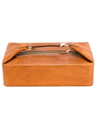Hermes Vintage Travel Toilet Clutch Brown