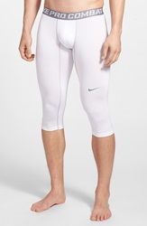Nike 'Pro Combat Core Compression' Three Quarter Tights White Cool Grey