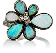 Judy Geib Wildflower Ring Colorless