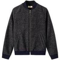 Folk Wool Bomber Jacket Grey