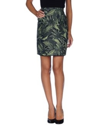 Emma Cook Knee Length Skirts Green