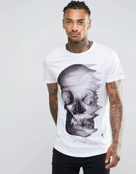 Religion T Shirt With Skull Graphic Print White Colour