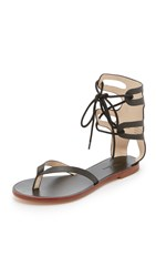 Matiko Eldora Gladiator Sandals Black