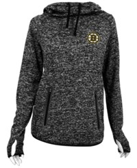 Antigua Women's Boston Bruins Recruit Pullover Hoodie Black