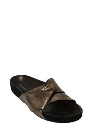 Isabel Marant 30Mm Boop Metallic Leather Slide Sandals