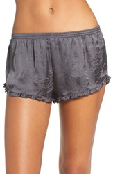 Chelsea 28 Women's Chelsea28 Satin Lounge Shorts Grey Forged