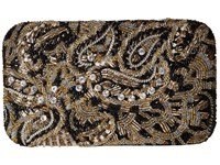 Alice Olivia Golden Paisley Large Clutch Multi