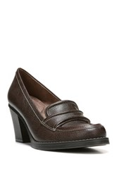 Naturalizer Yugo High Heel Loafer Wide Width Available Brown