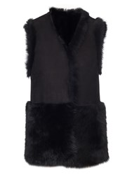 Whistles Edie Sheepskin Gilet Black