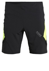 Gore Running Wear Air 2In1 Sports Shorts Black Neon Yellow