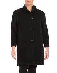 Jones New York Plus Button Front Coat Black