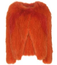 Vanessa Bruno Fox Fur Jacket Orange