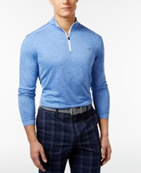 Greg Norman For Tasso Elba 1 4 Zip Pullover Cobalt Glaze
