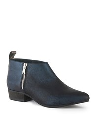Seychelles Serene Leather Ankle Boots Navy Blue