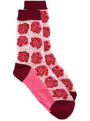 Paul Smith Rose Pattern Socks Pink And Purple