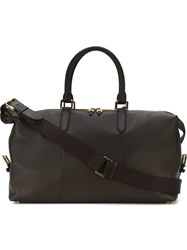 Smythson 'Burlington' Holdall Brown