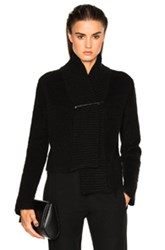 Ann Demeulemeester Safety Pin Cardigan In Black