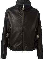 Obscur Zip Up Fitted Jacket Black