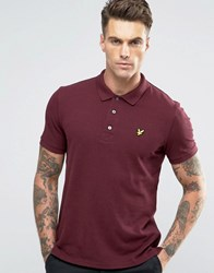 Lyle And Scott Pique Polo Eagle Logo Burgundy Marl Claret Marl Red