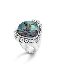 Lagos Sterling Silver Maya Abalone Doublet Dome Ring