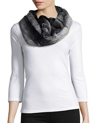 Cejon Plush Faux Fur Cowl Scarf Black