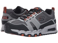 Skechers G Force Air Gray Orange Men's Lace Up Casual Shoes Multi
