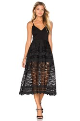 Karina Grimaldi Alice Crochet Dress Black