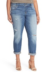 Plus Size Women's Lucky Brand 'Reese' Distressed Stretch Boyfriend Jeans Northridge Park