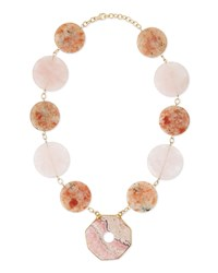 Multi Stone Statement Necklace Pink Devon Leigh