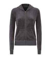 Juicy Couture Crown Jewel Velour Hoodie Female Grey