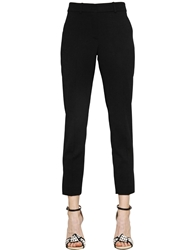 Sportmax Cropped Viscose Pants Black