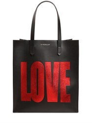 Givenchy Love Laminated Leather Tote Bag