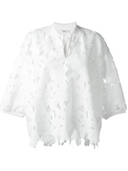 Blugirl Floral Embroidered Blouse White