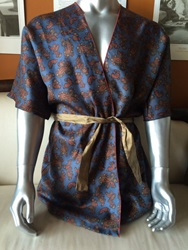Silk Paisley Men's Short Robe By Ericawaddellclothing On Etsy