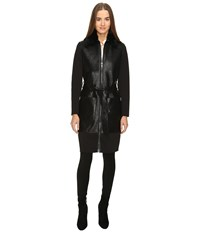 Zac Posen Beverly Trench Coat Ebony Women's Coat Black