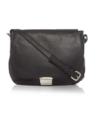 Coccinelle Rika Black Saddle Crossbody Bag Black