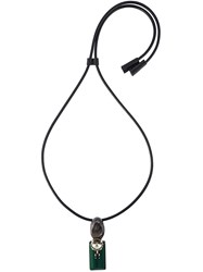Marni Stone Pendant Necklace Black