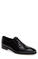 Salvatore Ferragamo 'Nikol 2' Perforated Leather Oxford Men Black