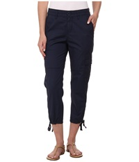 Dkny Poplin Ankle Cargo Pants Mood Indigo Women's Casual Pants Navy