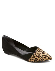 Rockport Leopard Print Calf Hair And Suede Wedges Black