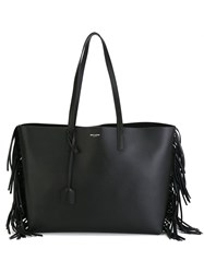 Saint Laurent Fringed Shopper Tote Black