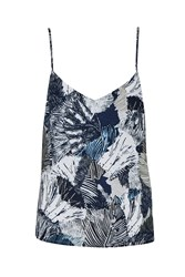French Connection Lala Print Cami White