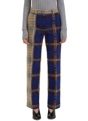 Acne Studios Maya Bi Colour Checked Tweed Pants Grey
