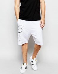 Izzue Shorts With Contrast Insert White