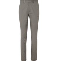 Theory Jake Slim Fit Stretch Cotton Trousers Gray