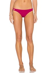 Rvca Painted Medium Bikini Bottom Fuchsia