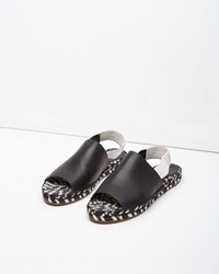 Proenza Schouler Leather Slingback Espadrille Black