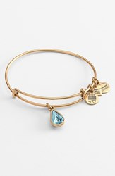 Women's Alex And Ani 'Living Water' Expandable Charm Bangle Russian Gold