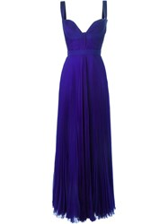 Dsquared2 Pleated Evening Gown Blue