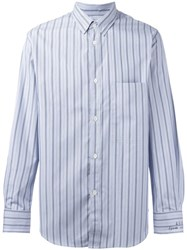 Golden Goose Deluxe Brand Striped Shirt Blue